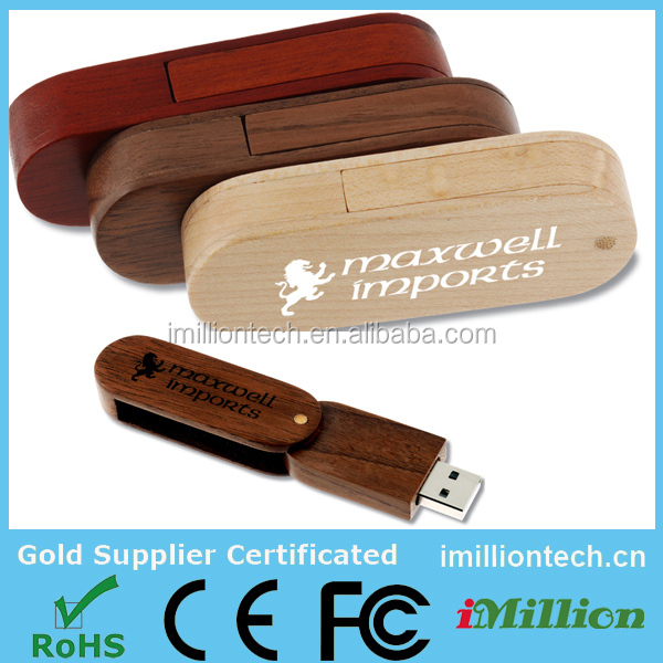 Customised Bamboo/Walnut/Maple USB Flash Drives Wood Pen Drive 4gb