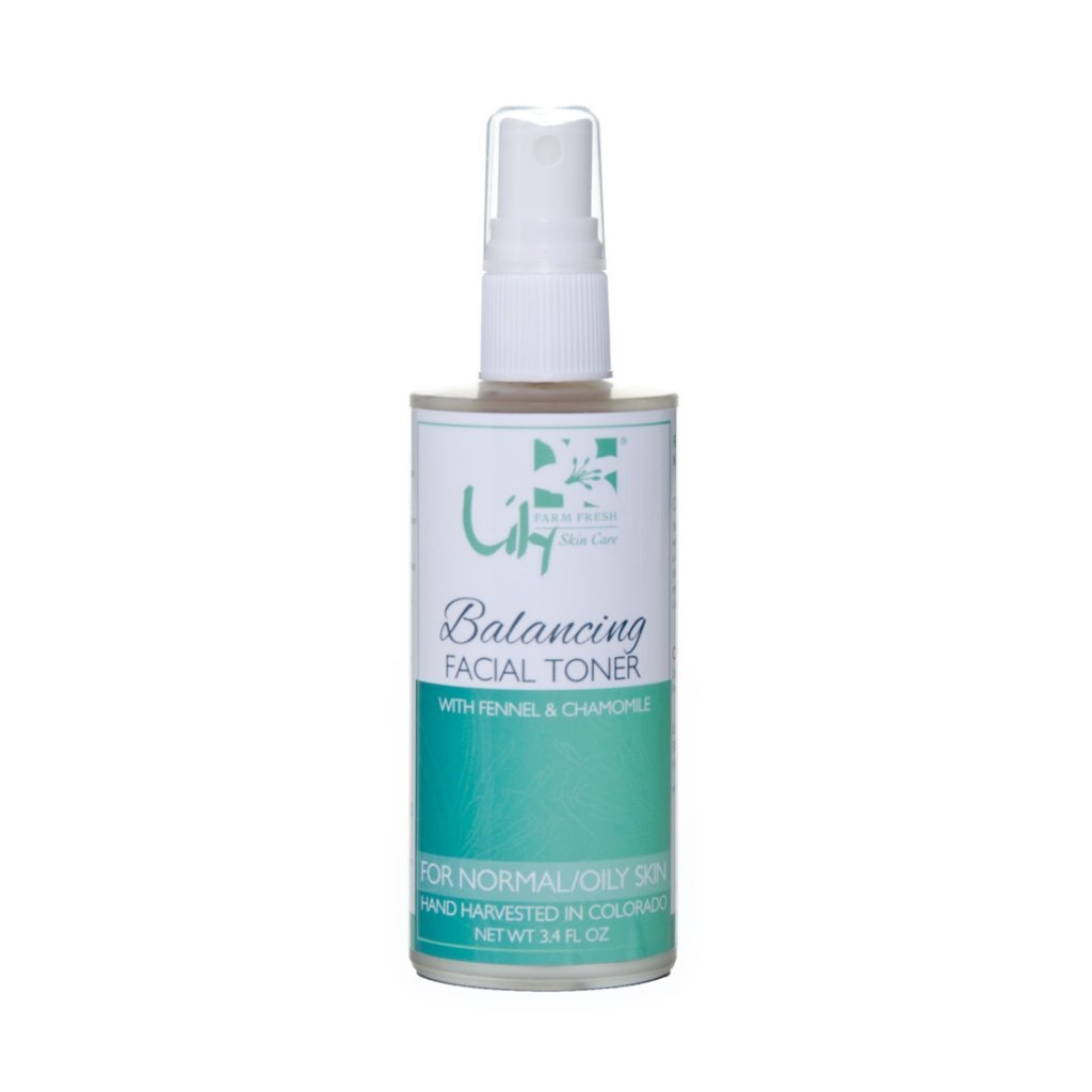 Lily Organics Facial Toner Balancing for Normal and Oily Skin 3.4 Ounce