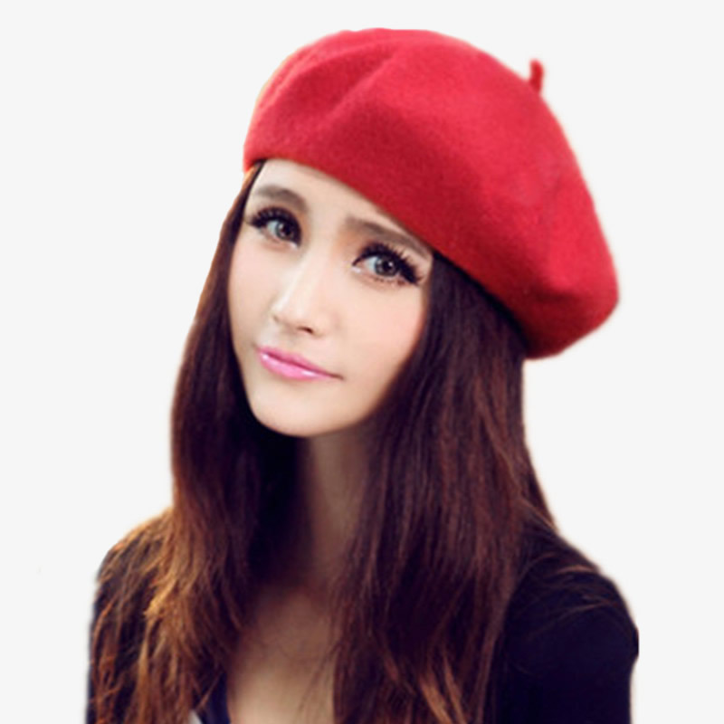 5ffb0f9ffeed0e Buy French Style Artist Beret Cap,Unisex Autumn&Winter Vintage Solid Colors  Soft Felt Wool Beanie Hat, Women Fashion Classic Berets in Cheap Price on  ...