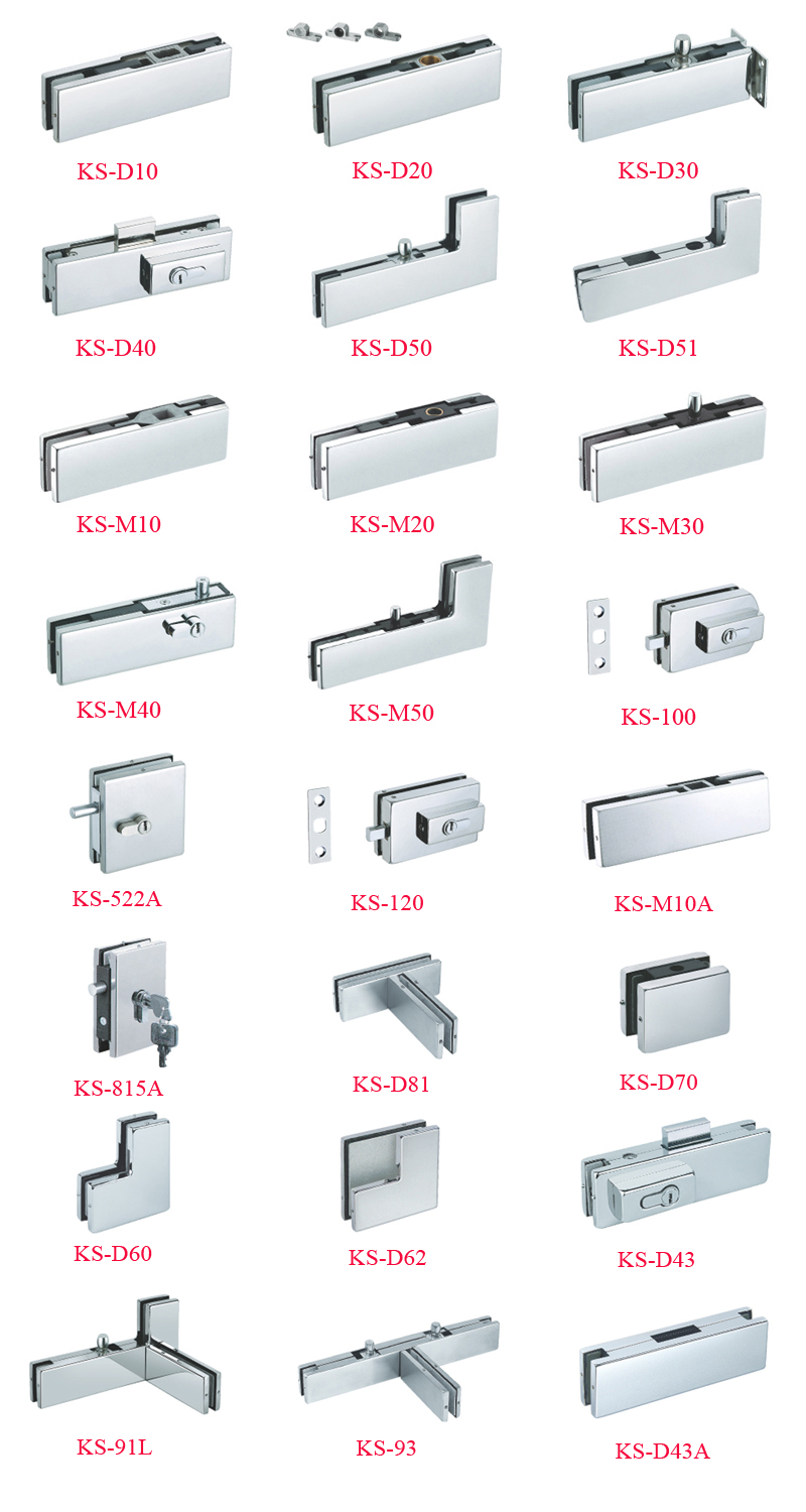SS201 satin cover D type glass door patch fitting