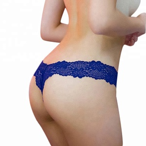 Women G-string Thongs Bow Knitted Flower Lace Panties Sexy Lingerie Underwear