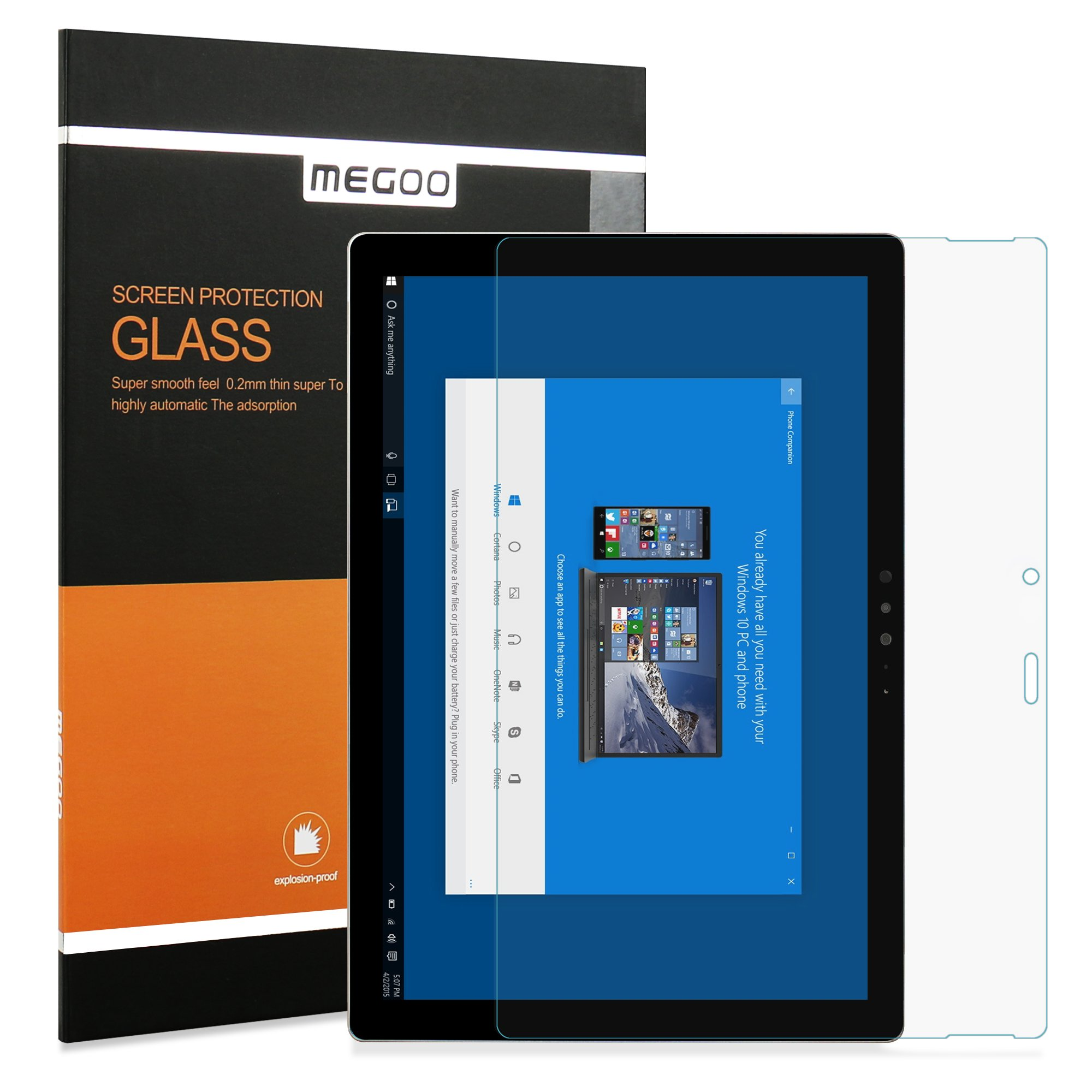 Surface Pro 4 Screen Protector, Megoo [Anti-Blue light] Tempered Glass Protector for Microsoft Surface Pro 4-12.3 Inch
