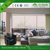 Hot selling Motorised Sunscreen roller blinds with somfy tubular motor or battery