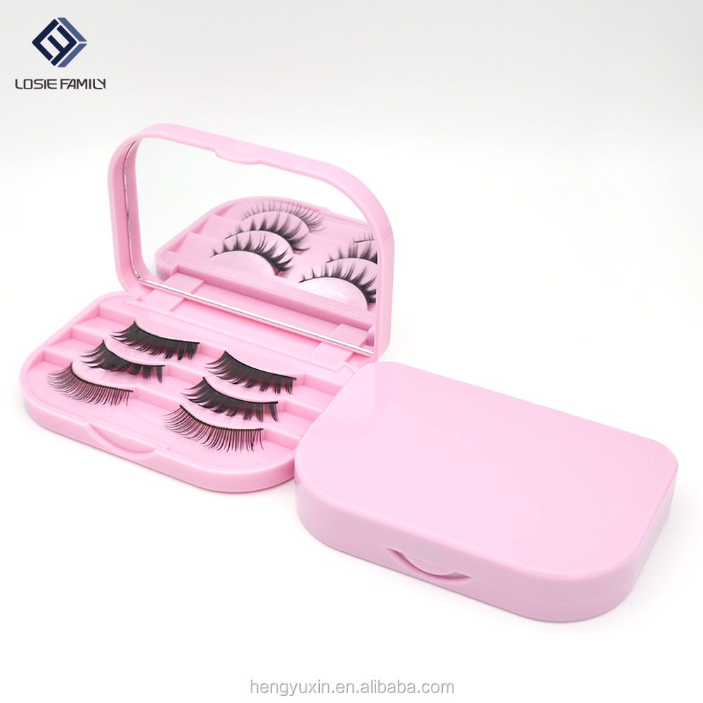 light pink false eyelash <strong>case</strong> eyelash extension carrying <strong>case</strong>