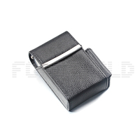 Genuine Leather Cigarette with Lighter Pouch Holder Cigarette Case