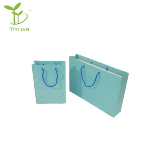 100% Recycled Paper made Shopping/ Dream Gift/Cub Bags Paper Bags Green Stripe Paper Bags with Handles