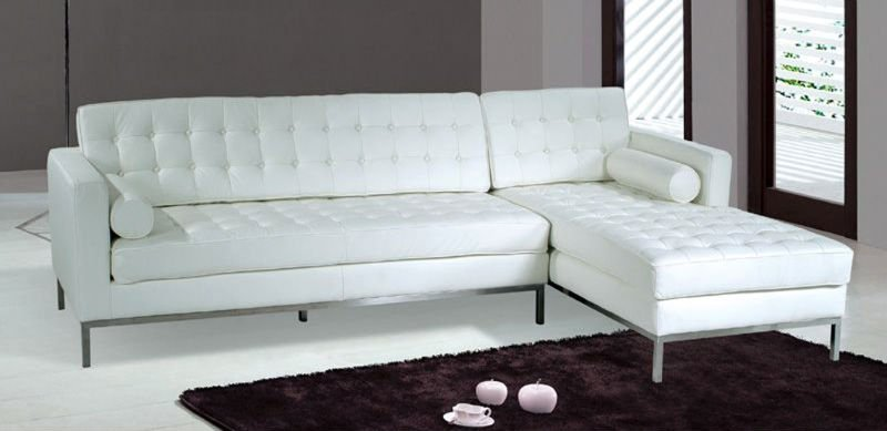 White Leather Barcelona Style Sectional Sofa   Buy Modern White Leather  Sectional Sofa Product On Alibaba.com