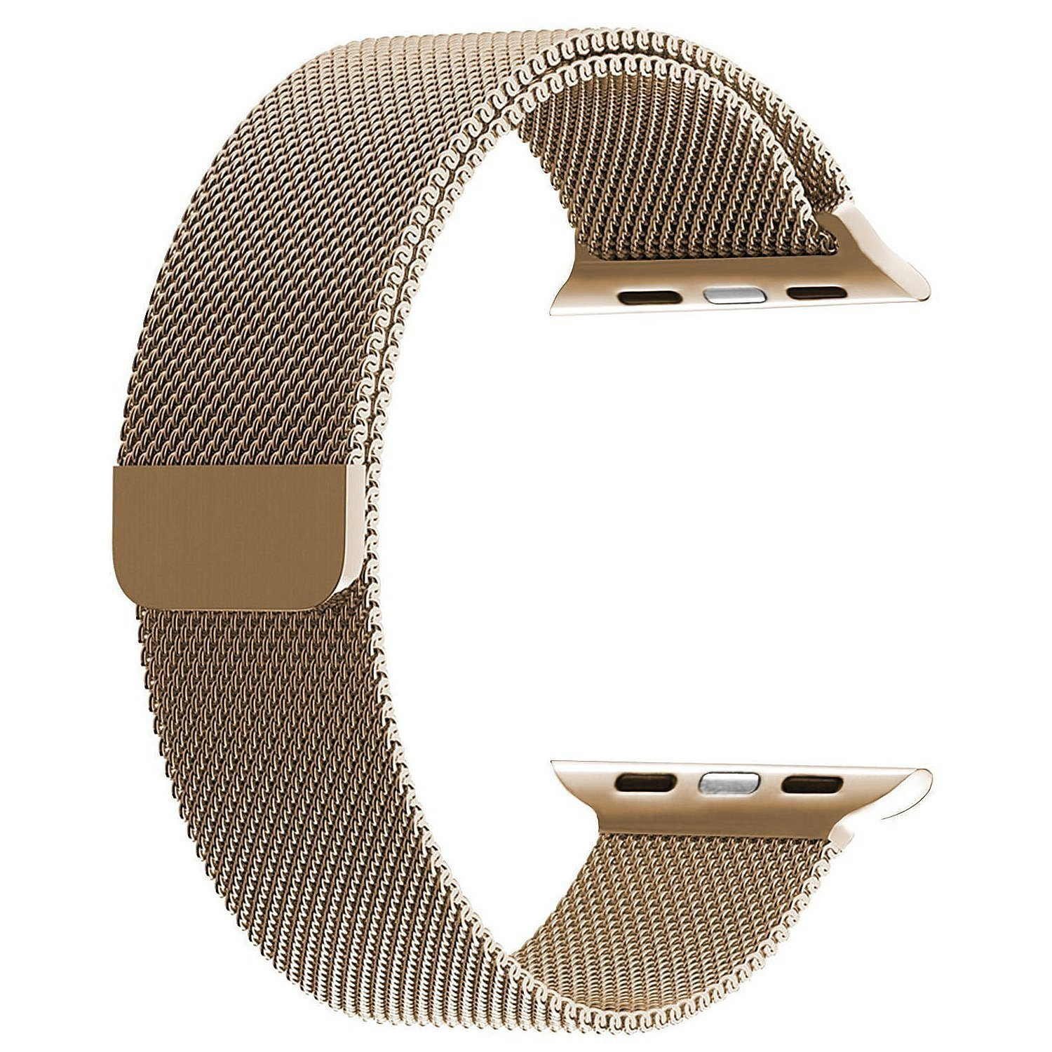 Apple Watch Band, BRG Milanese Loop Stainless Steel Bracelet Strap Replacement Wrist iWatch Band with Magnet Lock for Apple Watch Series 1 Series 2 - 42mm Gold