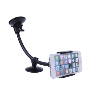 Universal Long Arm Windshield Hose Suction Cup Mobile Bracket For  Car Phone Holder