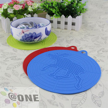 Heat-resistant Round Shape Rubber Silicone Hot Bowl Table Placemat