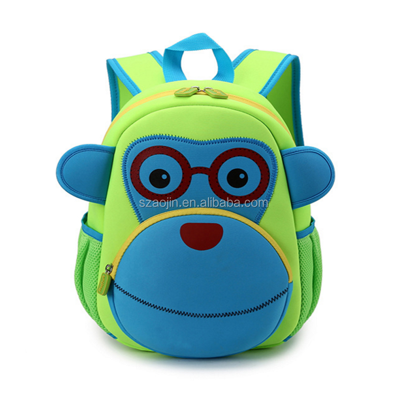 personalized cute animal shaped kids school bag