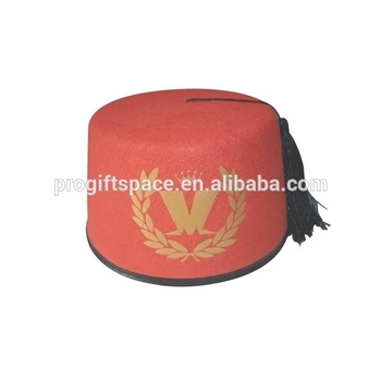 030d9c2c1002af China suppliers custom red wool fabric material Morocco cap Muslim top hat  wholesale with tassel for