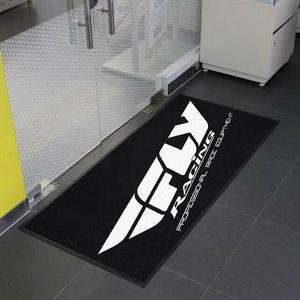 personalized pit mats with motorcycle brand logo