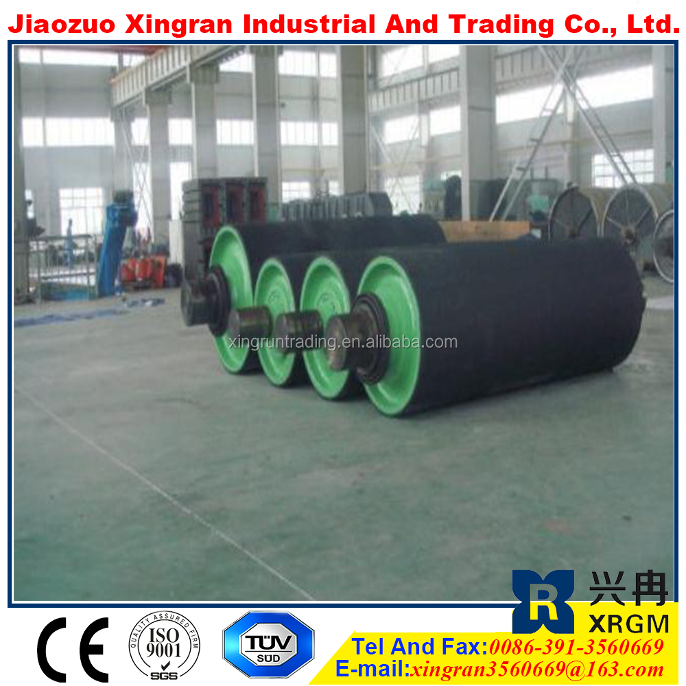 motor pulley system belt conveyor wing pulley pulley lagging