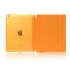 New arrival matte PC base PU leather cover for ipad air case with stand vision Orange