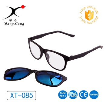 Unisex fashional sunglasses with magnetic clip on glasses sun uv400 protective magnet sunglasses polarized