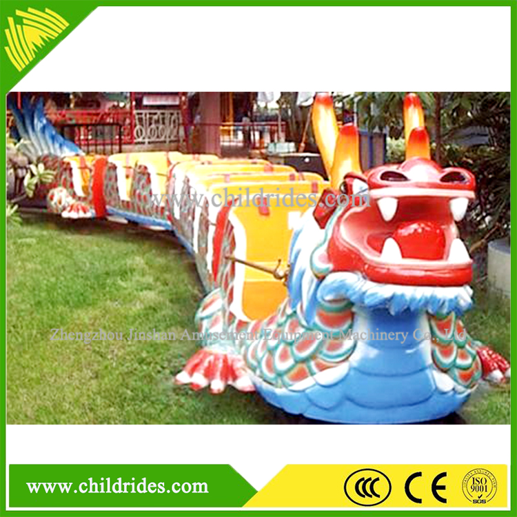 exciting park game children slide dragon train ride for sale