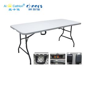 6 feet Easy Carrying Foldable Camping Picnic Table Suitcase Plastic Folding Table