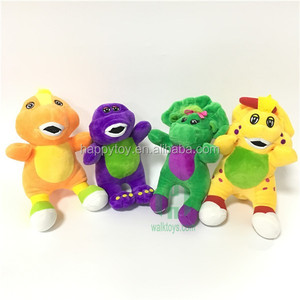 Hi CE custom hot realistic cotton promotional cheap wholesale barney dinosaur stuffed plush toy
