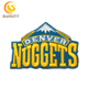 Custom Design Patch For NBA Baskeball Denver Nuggests Embroidery Patch