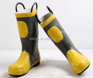 Rubber Firemen protection boots/steel toe and capes In factory