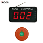 Queue Manage Remote Control Waterproof Button 3-digit Number Display Dingdong Sound Wireless CE-certification