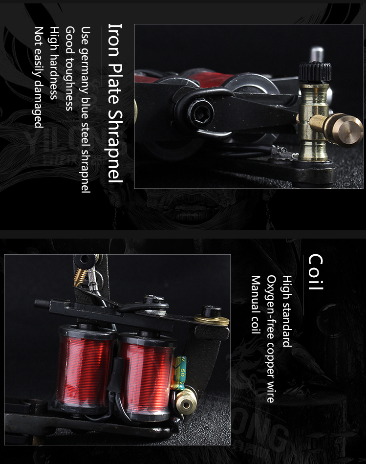 Yilong triple complete tattoo machine suppliers for tattoo machine-12