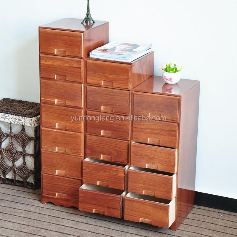 Living Room Corner Solid Wood Upright Storage Cabinet