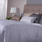 Hotel luxury 100% cotton sateen feather jacquard bedding