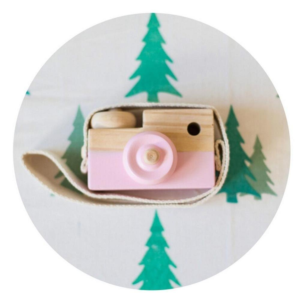 Baby Kids Toy, FTXJ Cute Wood Camera Toys Children Fashion Clothing Accessory Decoration, Pink