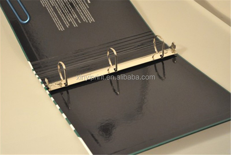 2015 New Design Pp File Folder Document Folder A4 Folder With Metal Ring Binder