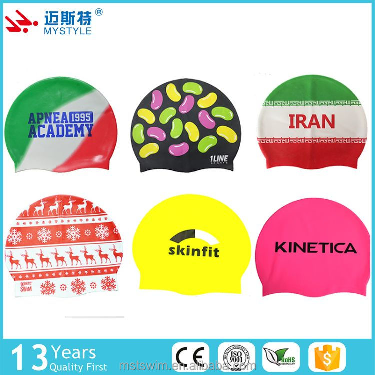 Wholesale cheap fast delivery antique swimming caps durable silicone