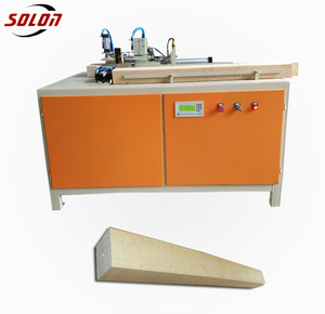 band-sawing machine to cut wood sawdust block