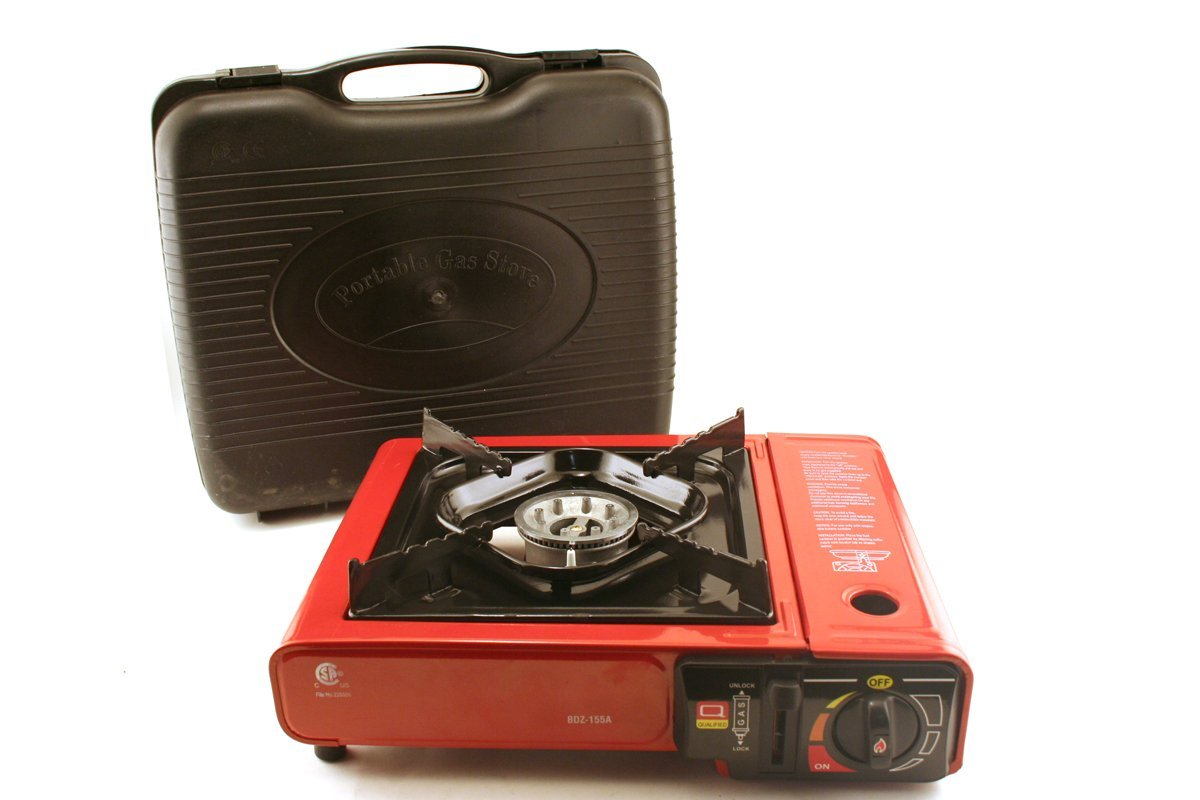 Portable Gas Stove - Type Bdz-155a (Red with Carrying Case) [Pick of 3]
