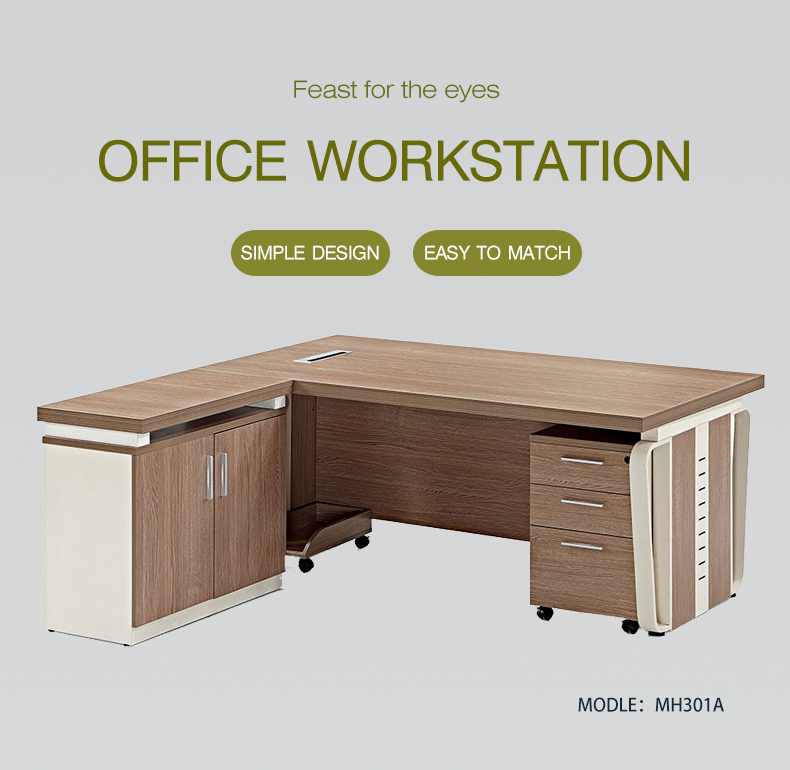 Wooden Desk Weight Home Office Computer Desk Table with 3 Drawer One Seater Office Desk