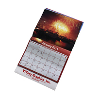 Spiral bound large size offset paper promotional printing tear off wall calendar printer