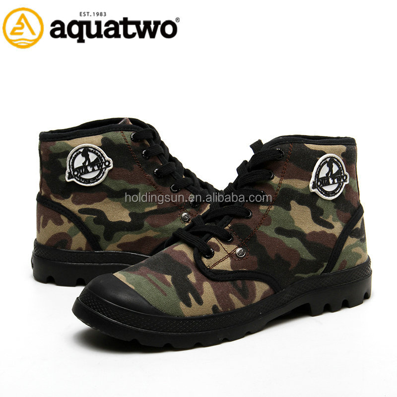2017 New Style Aquatwo Branded Camouflage Design Men Canvas Boots from Qquanzhou Shoes Factory