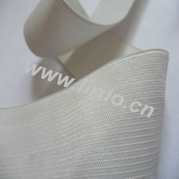 White polyester elastic band for garment