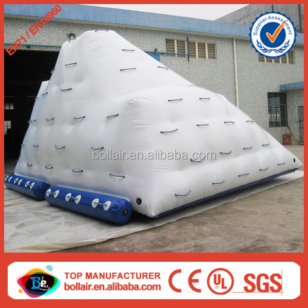 Wholesale price inflatable iceberg float,water iceberg floating climbing wall