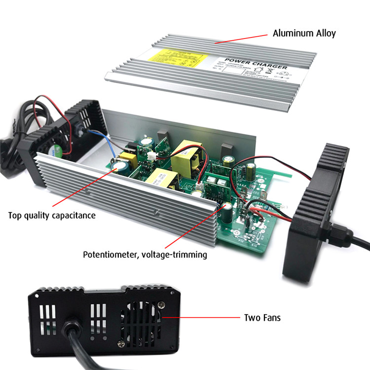 42v Lithium Battery Charger Max 10A Output Current For 36V Electric Scooter