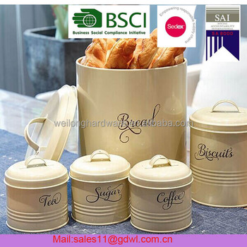 Multifunctional Kitchen Metal Food Storage Flour Sugar Coffee  Canisters/Kitchen Containers/Storage Box