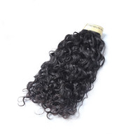 Top quality sells well unprocessed wholesale virgin brazilian water wave hair no track hair extensions