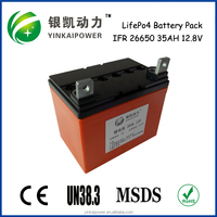 Super portable 12v 35ah rechargeable lithium ion battery pack for solar energy storage battery ICR 18650