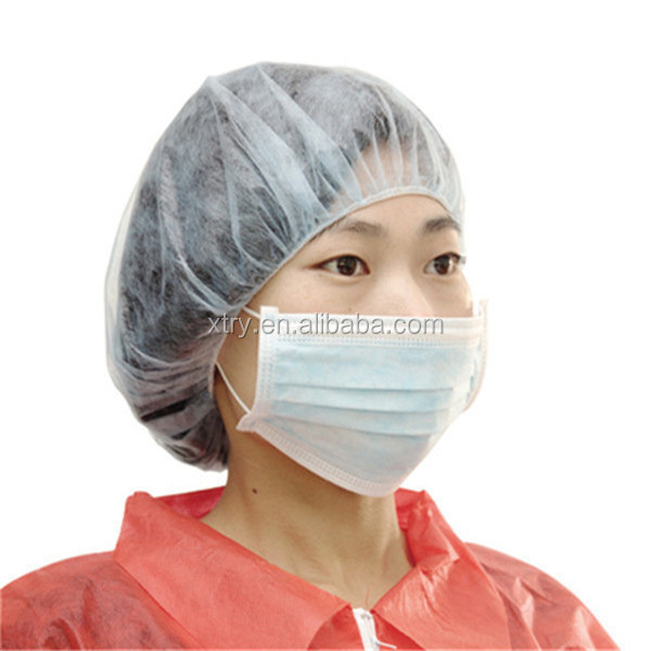 CE ISO FDA Safety and comfortable disposable Bouffant doctor Caps