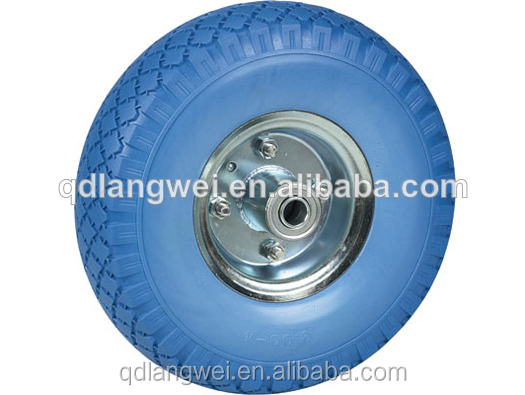 "wheel barrow tyre3.50-7 3.00-4 pu wheels 10"" flat free tire for hand trolley scooter and kid toy wheel barrow tyre 3.50-7"