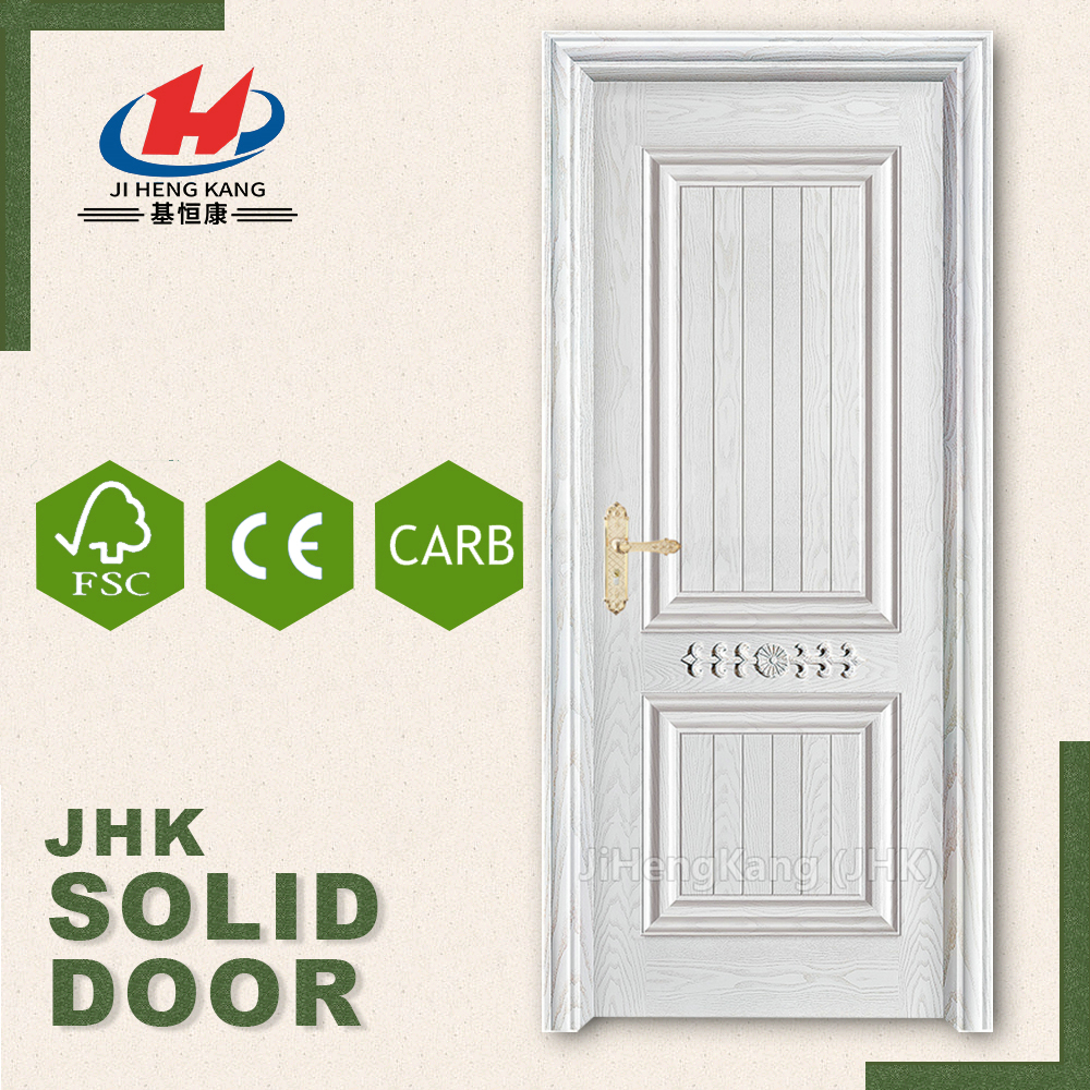 JHK  017 CS Exterior Classic Carved Single Solid Wood Slab Door Design