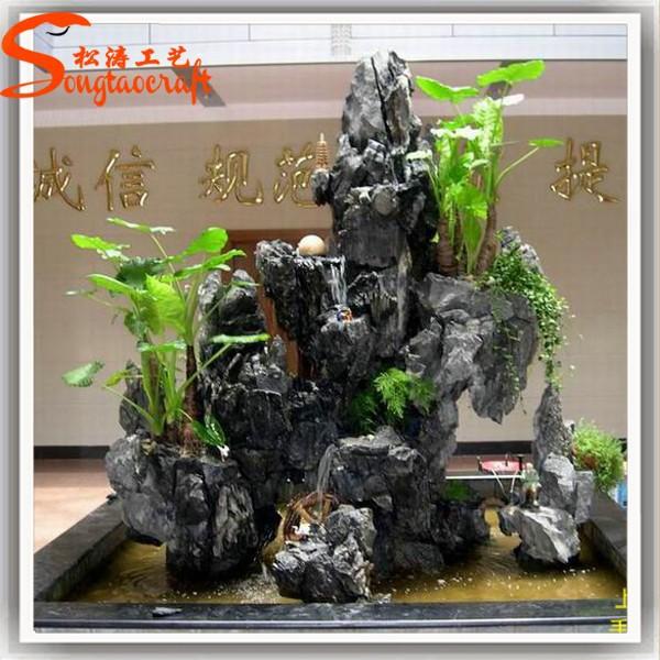 Guangzhou artificial moderna de fibra de vidrio de rock for Cascadas artificiales modernas