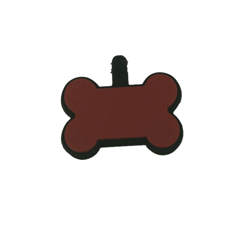 Custom design your own sublimation silicone pet tag for dogs