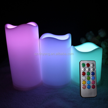 Best selling 3pcs/set 3*AAA Electric Pillar Candles with Remote Control
