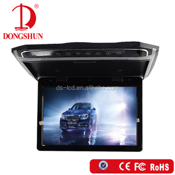 10.2/12.1/14USB SD player flip down car lcd mount monitor with AV HDMI input